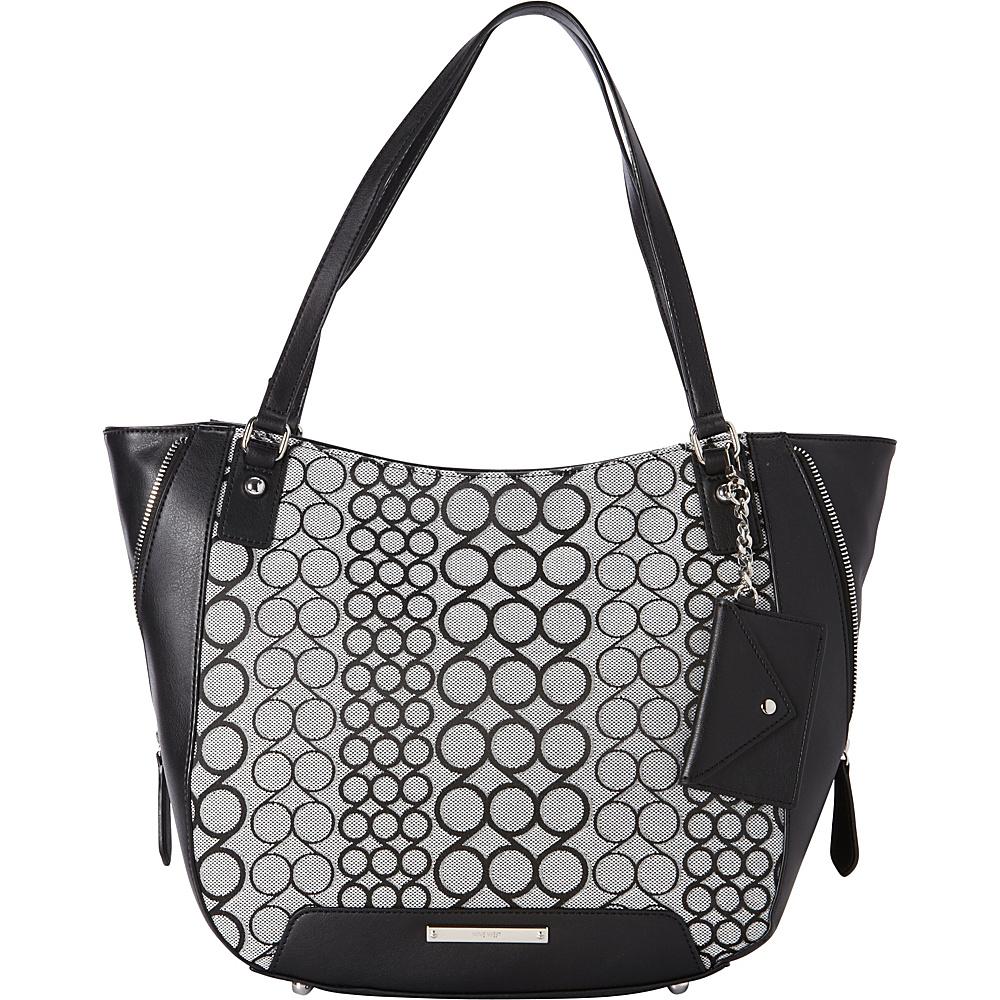 Nine West Handbags 9S Carryall Bag Black/White - Nine West Handbags Fabric Handbags