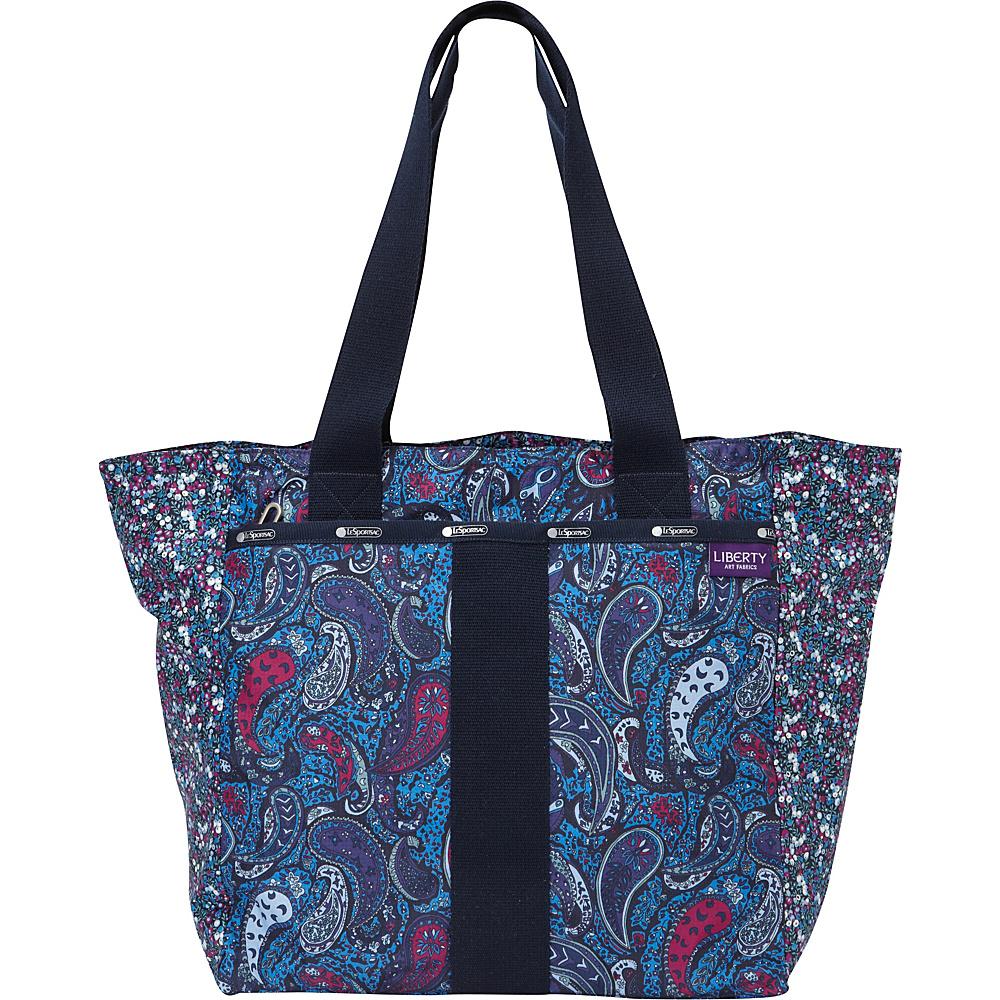 LeSportsac LeSportsac Made with Liberty Art Fabrics Everyday Tote East Combo Blue - LeSportsac Fabric Handbags
