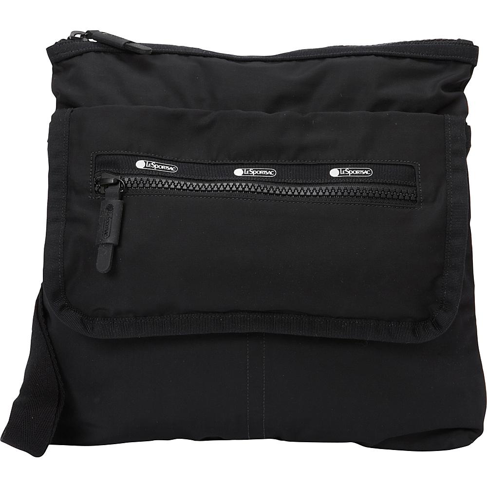 LeSportsac Travel Flight Crossbody True Black T LeSportsac Fabric Handbags