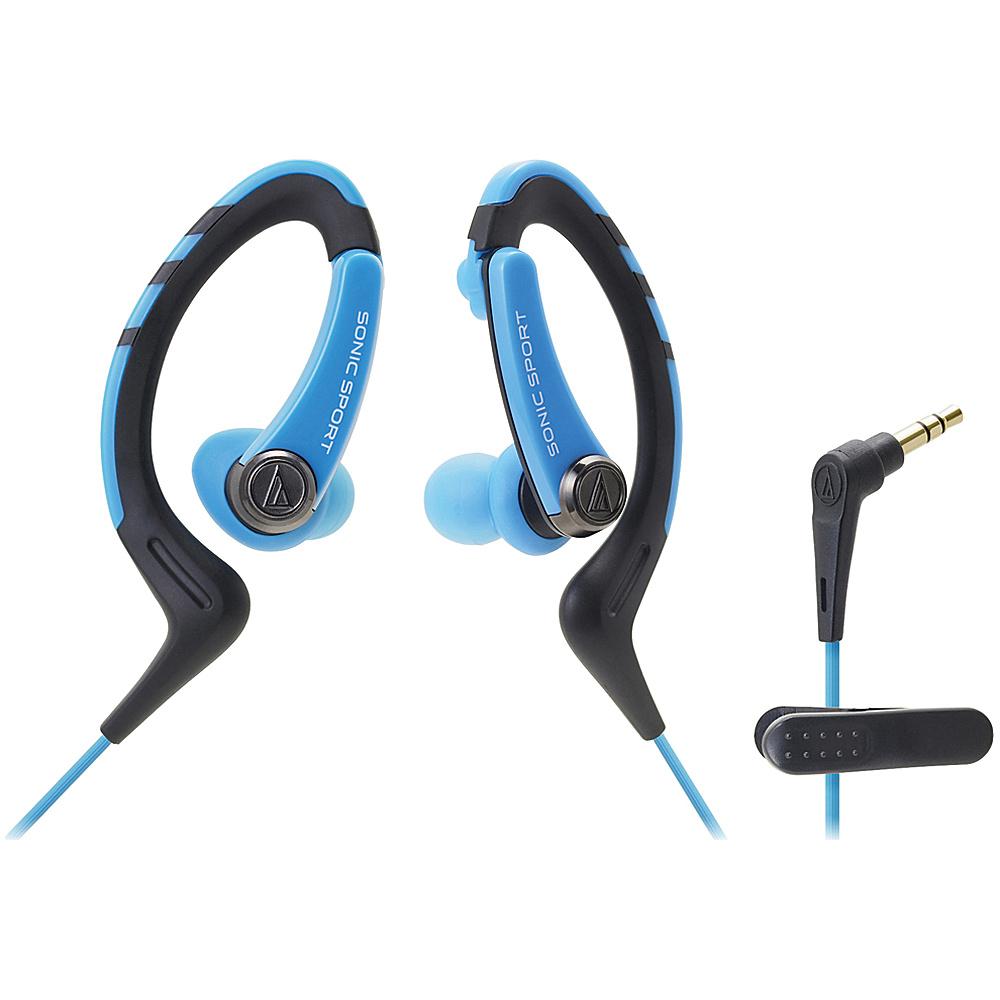 Audio Technica ATH SPORT1BL SonicSport In ear Headphones Blue Audio Technica Headphones Speakers
