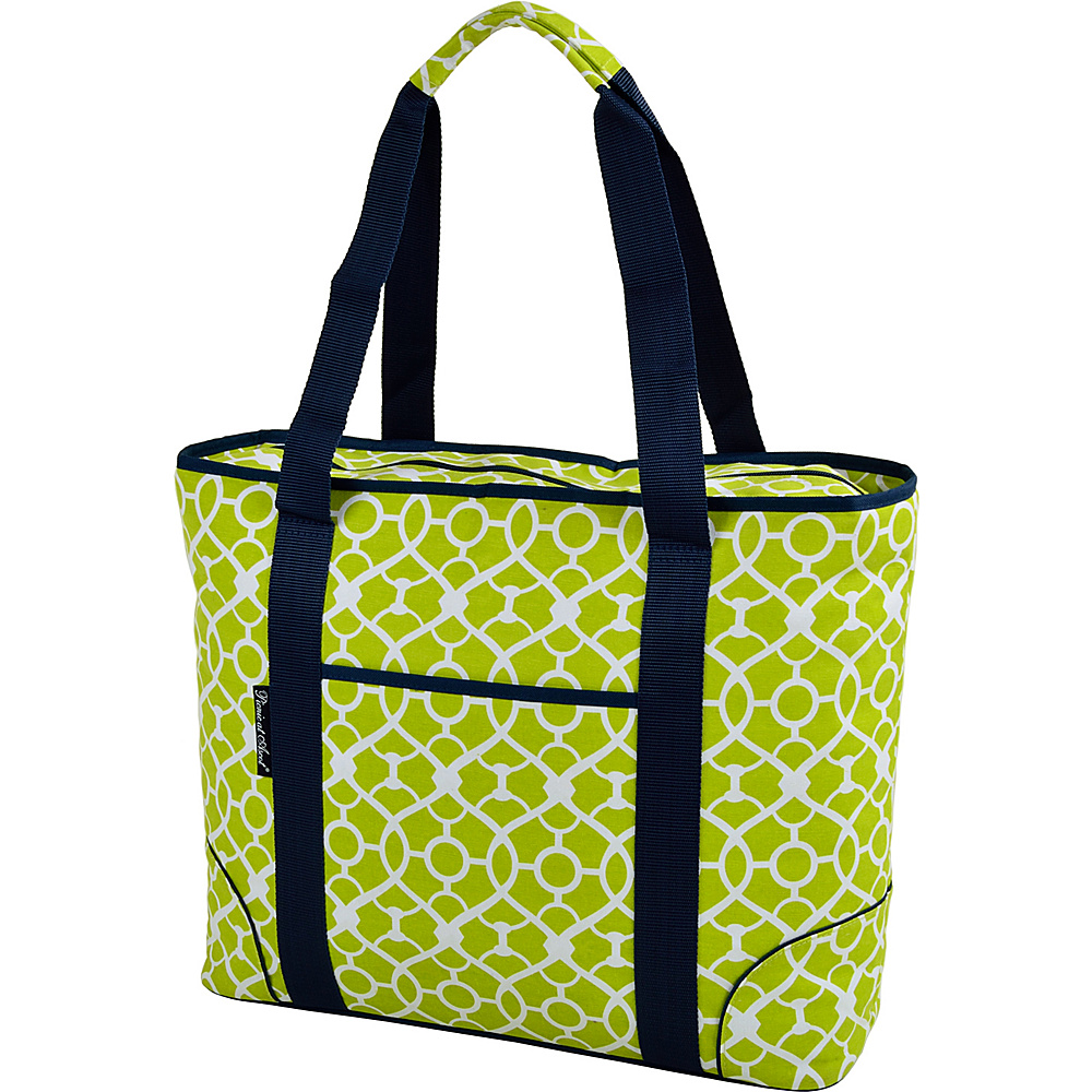 Picnic at Ascot Extra Large Insulated Cooler Bag - 30 Can Tote Trellis Green - Picnic at Ascot Outdoor Coolers - Outdoor, Outdoor Coolers