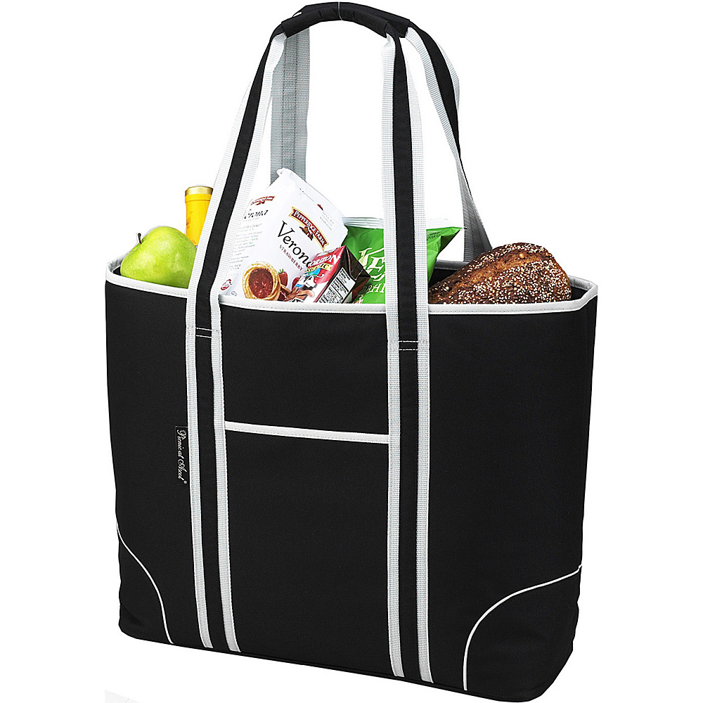 Picnic at Ascot Extra Large Insulated Cooler Bag - 30 Can Tote Black - Picnic at Ascot Outdoor Coolers - Outdoor, Outdoor Coolers