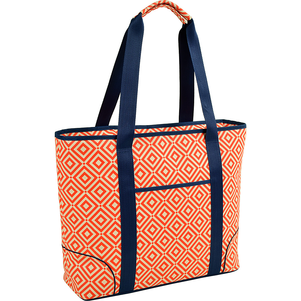 Picnic at Ascot Extra Large Insulated Cooler Bag - 30 Can Tote Orange/Navy - Picnic at Ascot Outdoor Coolers - Outdoor, Outdoor Coolers