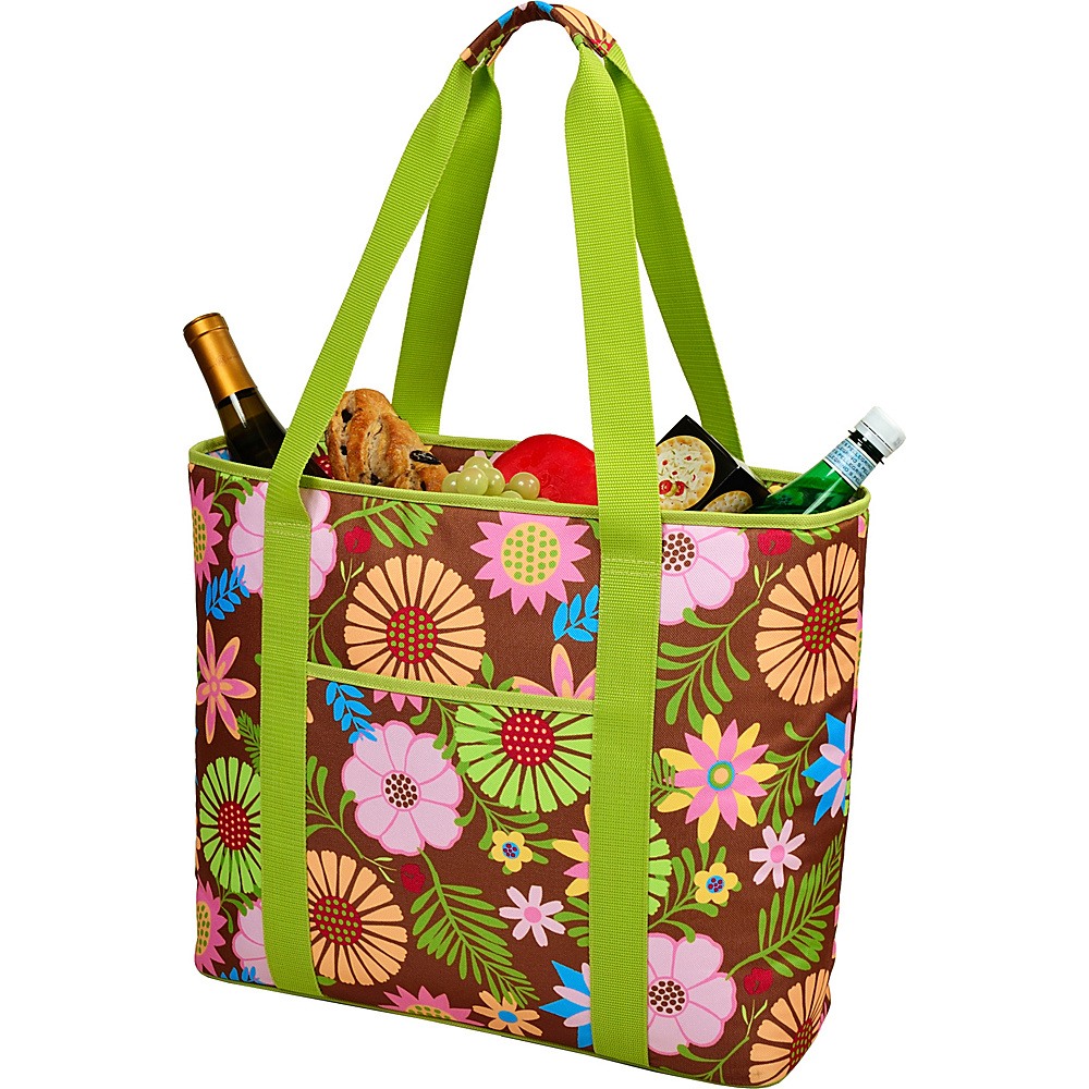 Picnic at Ascot Extra Large Insulated Cooler Bag - 30 Can Tote Floral - Picnic at Ascot Outdoor Coolers - Outdoor, Outdoor Coolers