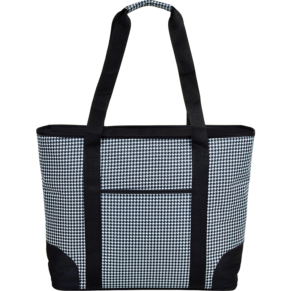 Picnic at Ascot Extra Large Insulated Cooler Bag - 30 Can Tote Houndstooth - Picnic at Ascot Outdoor Coolers - Outdoor, Outdoor Coolers