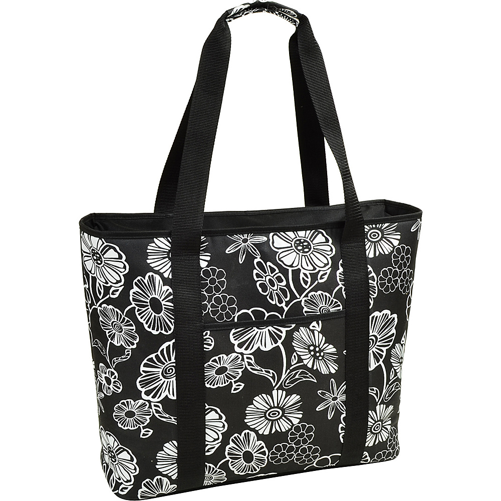 Picnic at Ascot Extra Large Insulated Cooler Bag - 30 Can Tote Night Bloom - Picnic at Ascot Outdoor Coolers - Outdoor, Outdoor Coolers