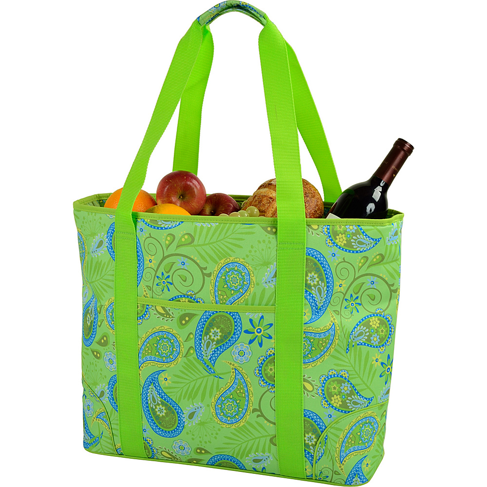 Picnic at Ascot Extra Large Insulated Cooler Bag - 30 Can Tote Paisley Green - Picnic at Ascot Outdoor Coolers