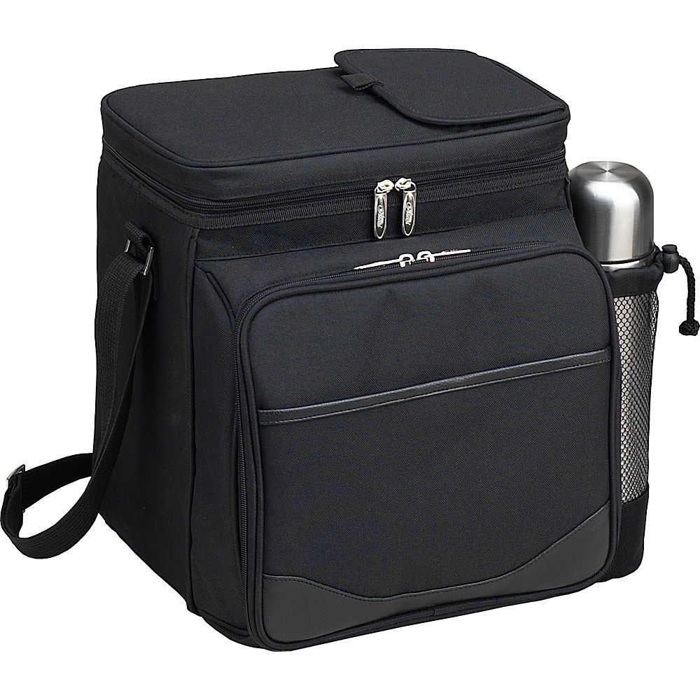 Picnic at Ascot Insulated Picnic Basket/Cooler Fully Equipped for 2  with Coffee Service - Black Black - Picnic at Ascot Outdoor Coolers - Outdoor, Outdoor Coolers