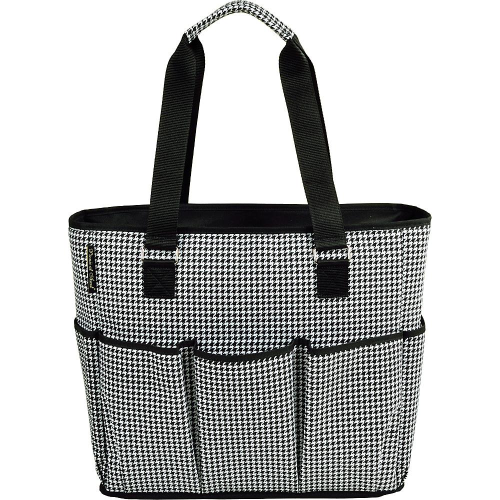 Picnic at Ascot Large Insulated Multi Pocketed Travel Bag with 6 exterior pockets Houndstooth - Picnic at Ascot Outdoor Coolers - Outdoor, Outdoor Coolers