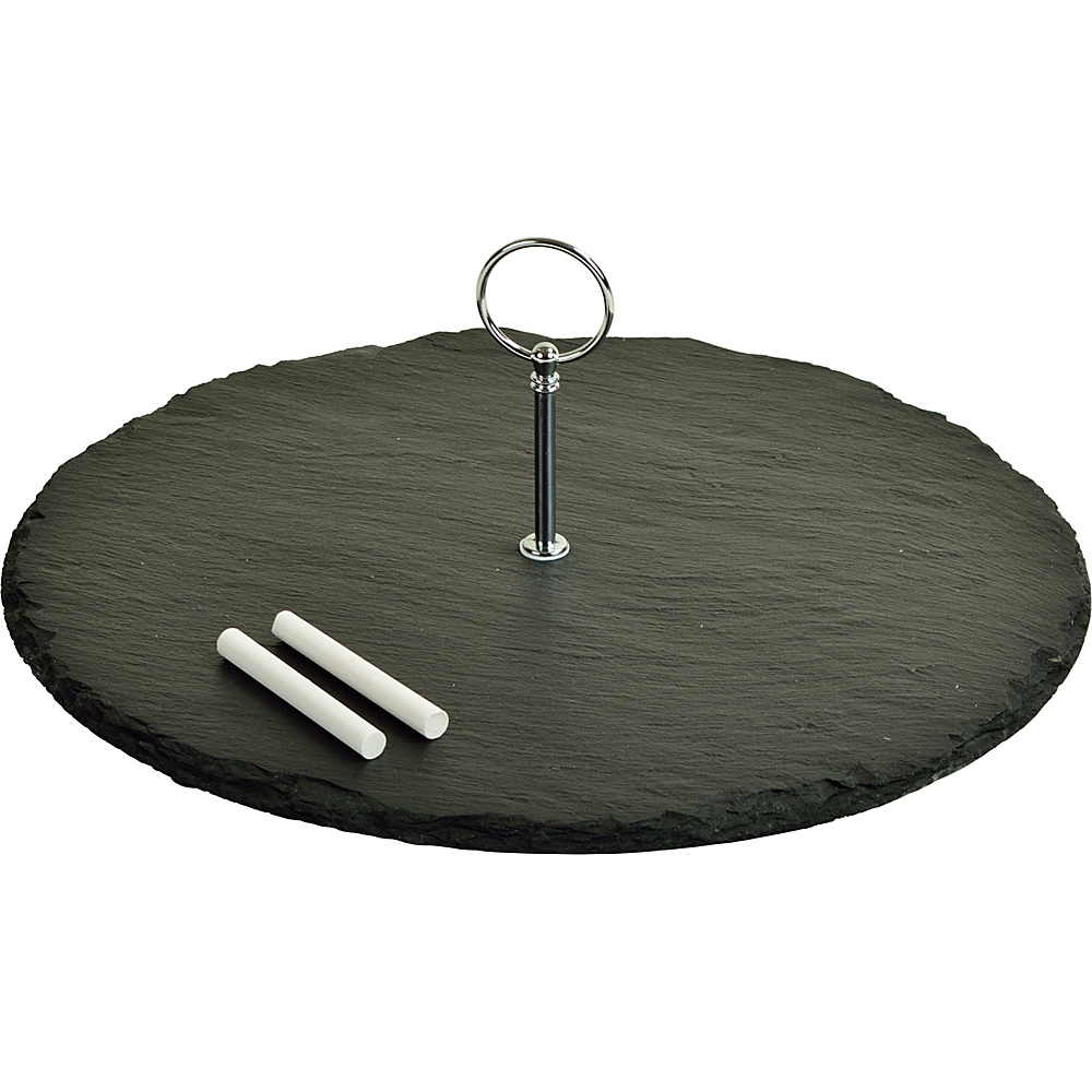 Picnic at Ascot Selva Slate Cheese Board with Soapstone Chalk Black Slate - Picnic at Ascot Outdoor Accessories - Outdoor, Outdoor Accessories