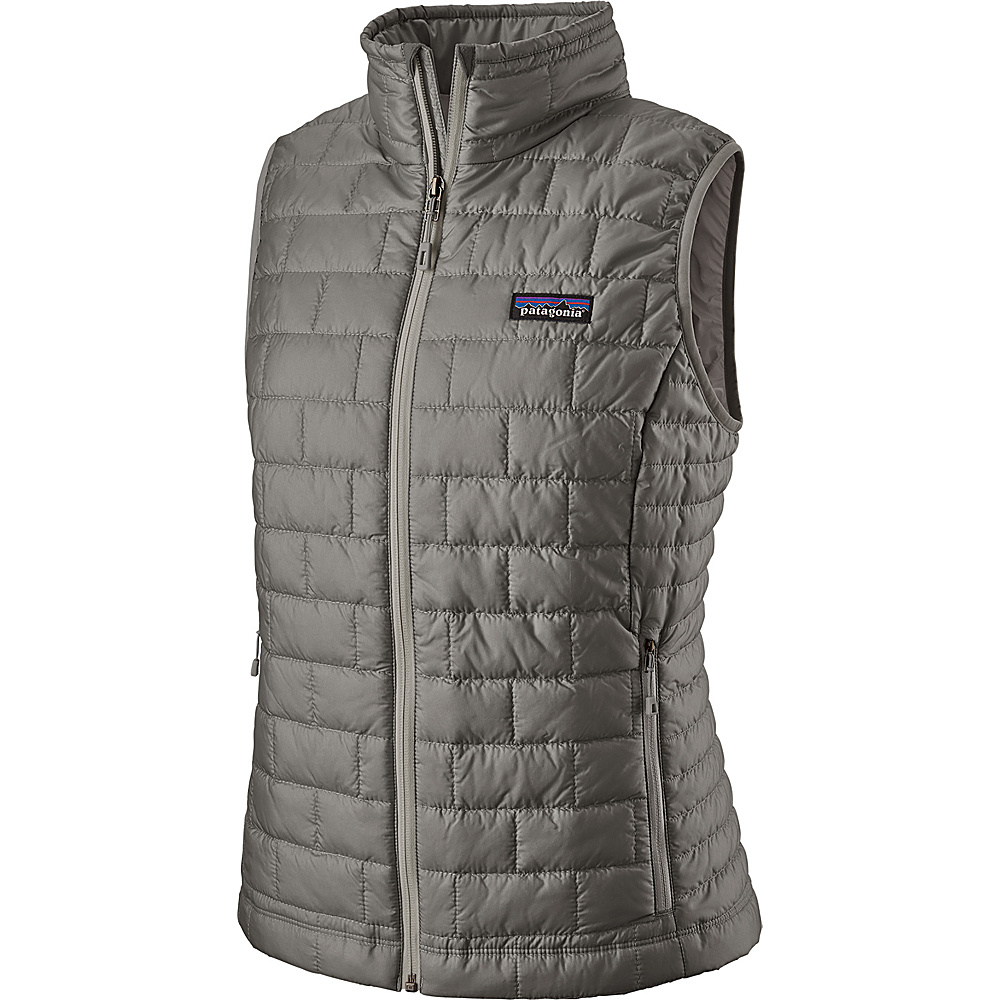 Patagonia Womens Nano Puff Vest M - Feather Grey - Patagonia Womens Apparel - Apparel & Footwear, Women's Apparel