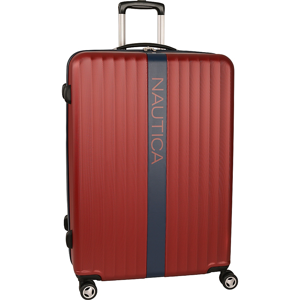 "Nautica Surfers Paradise 28"" Hardside Spinner Burgandy/Navy - Nautica Large Rolling Luggage"