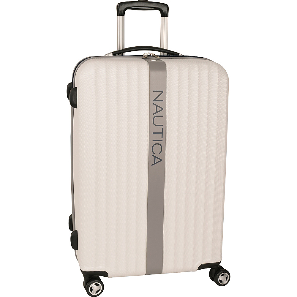 "Nautica Surfers Paradise 28"" Hardside Spinner White/Grey - Nautica Hardside Luggage"