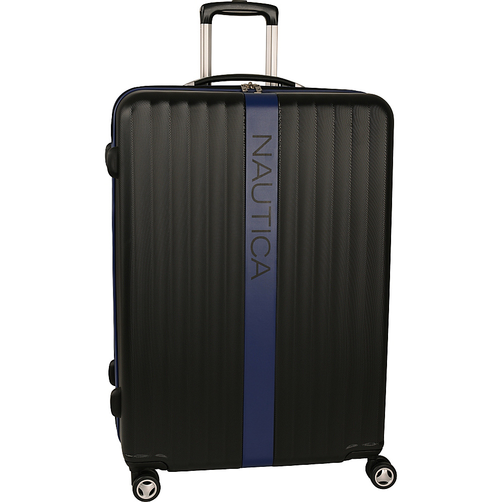"Nautica Surfers Paradise 28"" Hardside Spinner Black/Blue - Nautica Hardside Luggage"