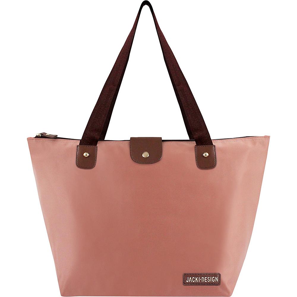 Jacki Design Essential Large Foldable Tote Bag Rose - Jacki Design Fabric Handbags