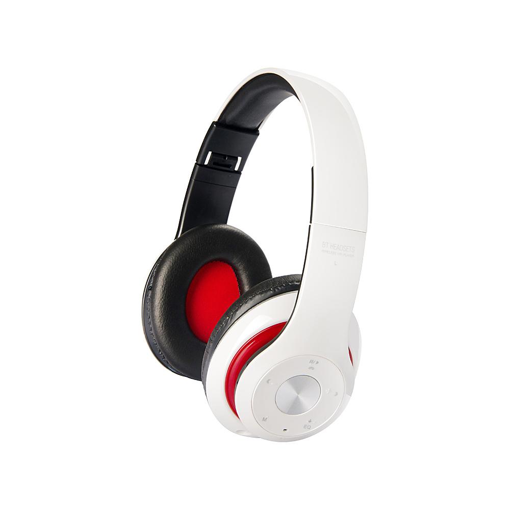 Koolulu Bluetooth Premium Headphone with Equalizer White Koolulu Headphones Speakers