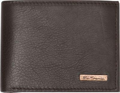 Ben Sherman Luggage Hackney Collection Leather RFID Traveler Passcase Wallet Brown - Ben Sherman Luggage Men's Wallets