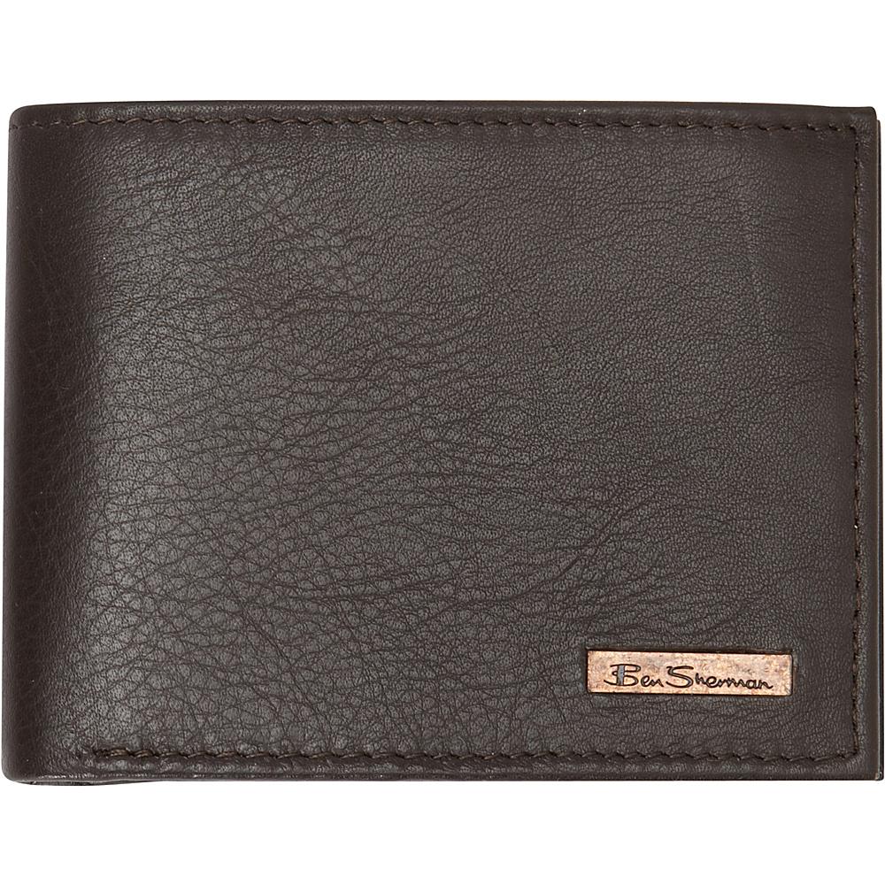 Ben Sherman Luggage Hackney Collection Leather RFID Traveler Passcase Wallet Brown Ben Sherman Luggage Men s Wallets