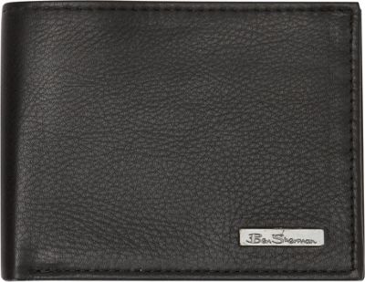 Ben Sherman Luggage Hackney Collection Leather RFID Traveler Passcase Wallet Black - Ben Sherman Luggage Men's Wallets
