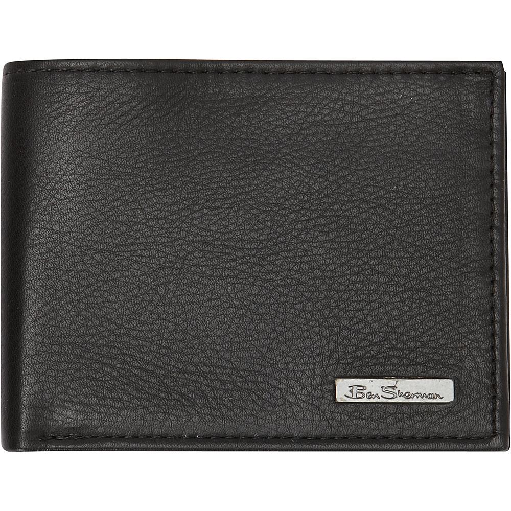 Ben Sherman Luggage Hackney Collection Leather RFID Traveler Passcase Wallet Black Ben Sherman Luggage Men s Wallets