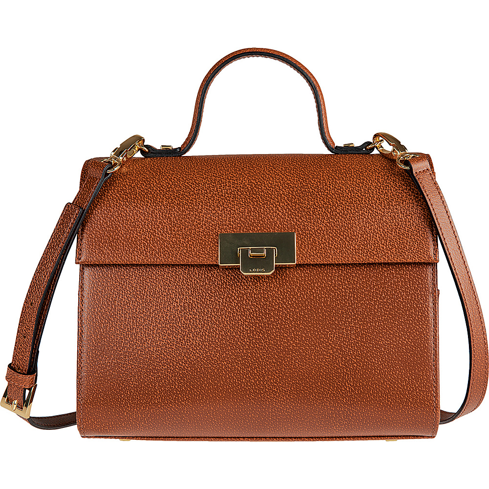 Lodis Stephanie Under Lock and Key Bree Medium Crossbody Chestnut - Lodis Leather Handbags - Handbags, Leather Handbags