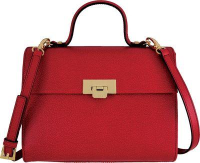 Lodis Stephanie Under Lock and Key Bree Medium Crossbody Red - Lodis Leather Handbags