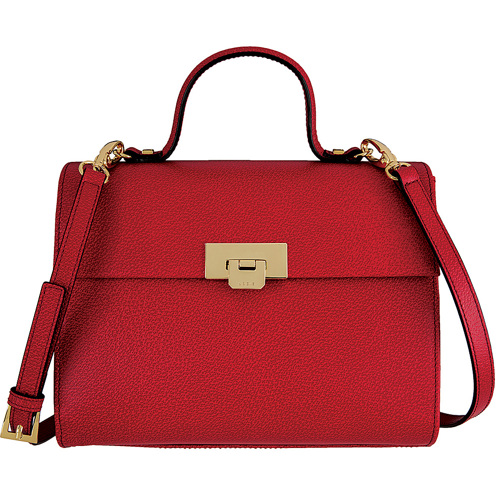 Lodis Stephanie Under Lock and Key Bree Medium Crossbody Red - Lodis Leather Handbags - Handbags, Leather Handbags