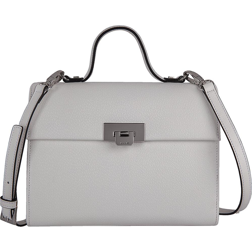 Lodis Stephanie Under Lock and Key Bree Medium Crossbody White - Lodis Leather Handbags - Handbags, Leather Handbags