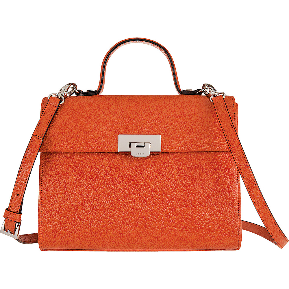 Lodis Stephanie Under Lock and Key Bree Medium Crossbody Orange - Lodis Leather Handbags - Handbags, Leather Handbags