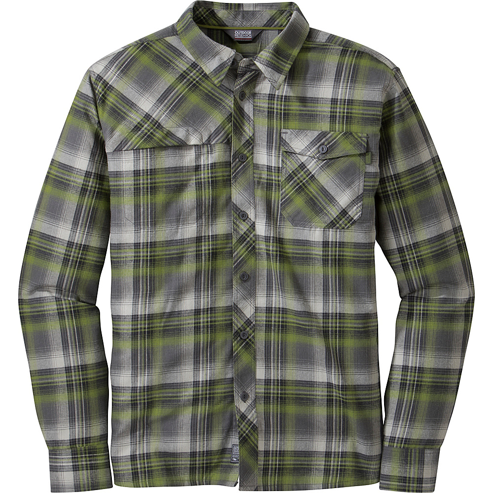 Outdoor Research Tangent L/S Shirt S - Hops/Black - Outdoor Research Mens Apparel - Apparel & Footwear, Men's Apparel