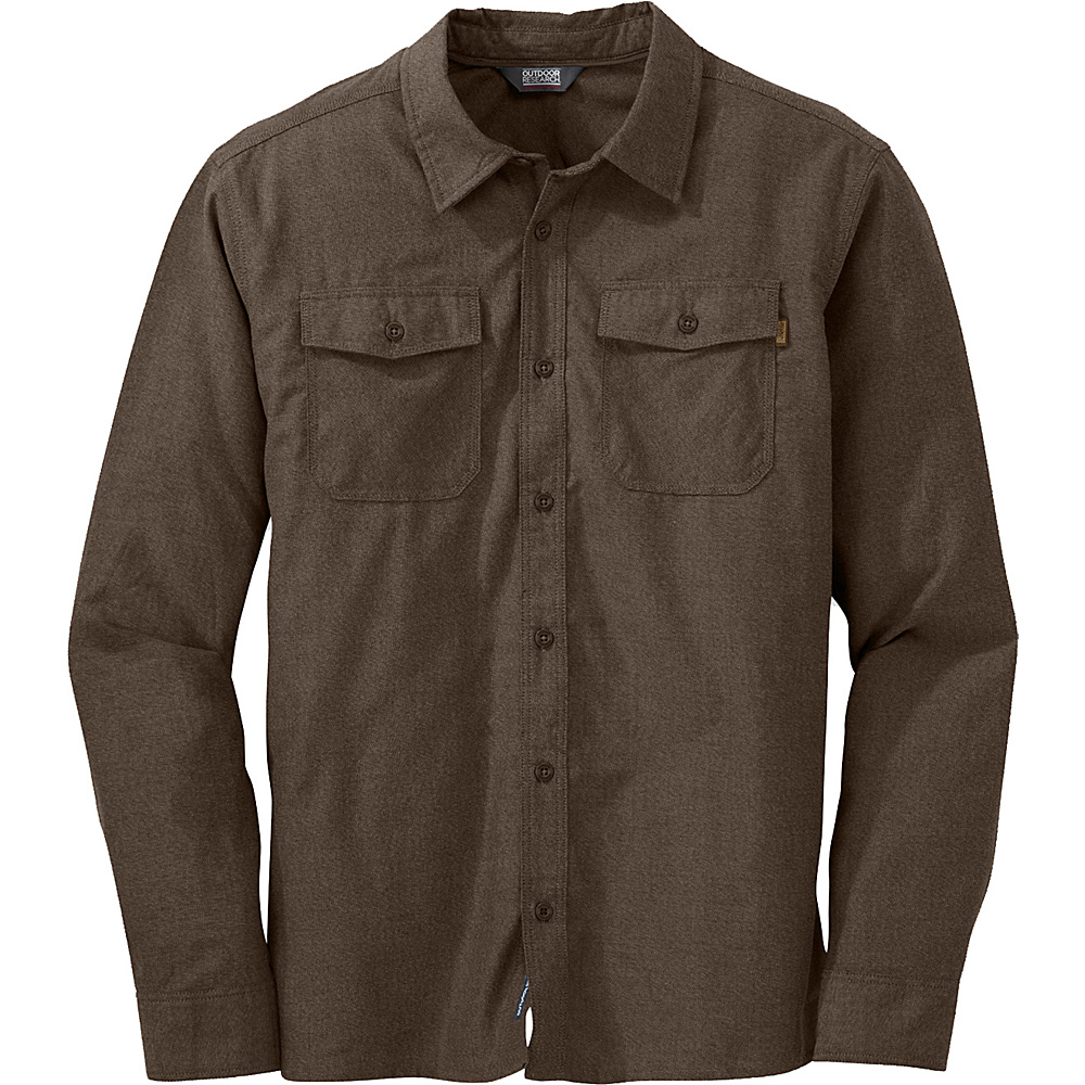 Outdoor Research Gastown L/S Shirt M - Earth - Outdoor Research Mens Apparel - Apparel & Footwear, Men's Apparel