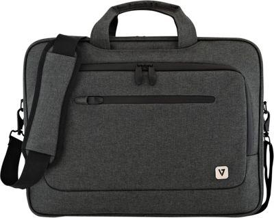 V7 15.6 inch Slim Laptop Case with Shoulder Strap Black - V7 Non-Wheeled Business Cases