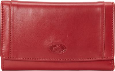 Mancini Leather Goods Manchester Collection: Ladies Large RFID Clutch Wallet Red - Mancini Leather Goods Women's Wallets