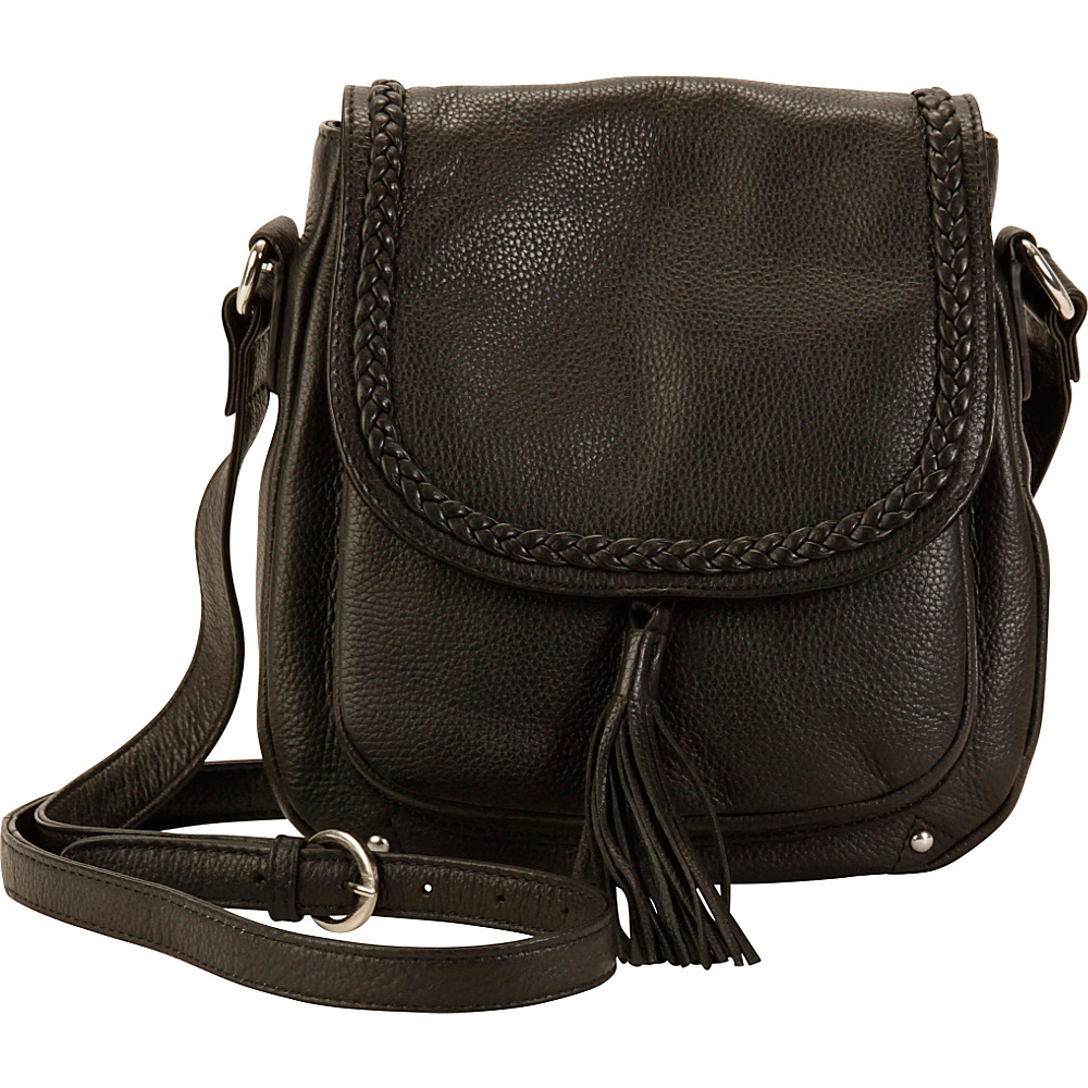Hadaki Saddle Crossbody Black - Hadaki Leather Handbags - Handbags, Leather Handbags