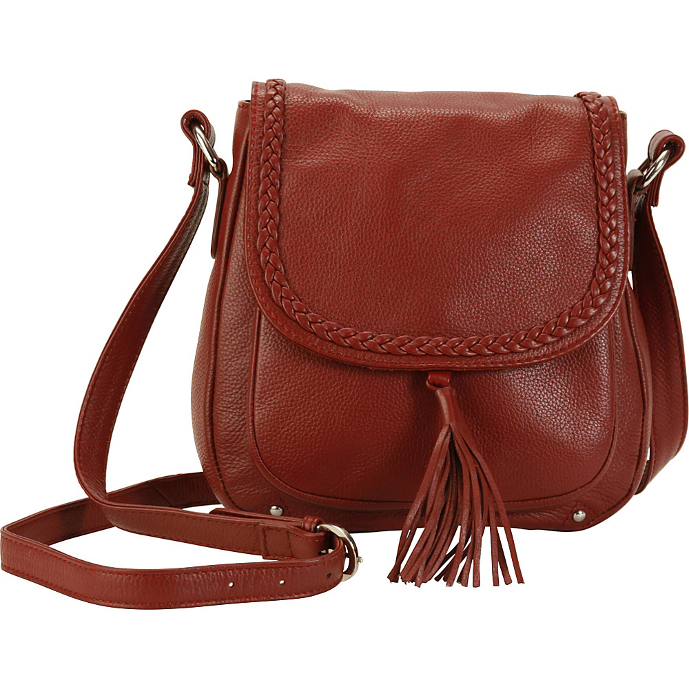 Hadaki Saddle Crossbody Deep Red - Hadaki Leather Handbags - Handbags, Leather Handbags