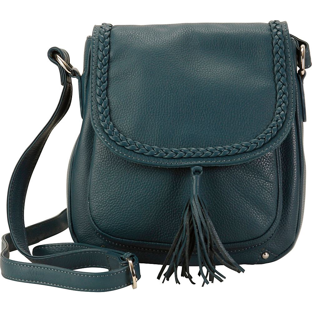 Hadaki Saddle Crossbody Indian Teal - Hadaki Leather Handbags - Handbags, Leather Handbags