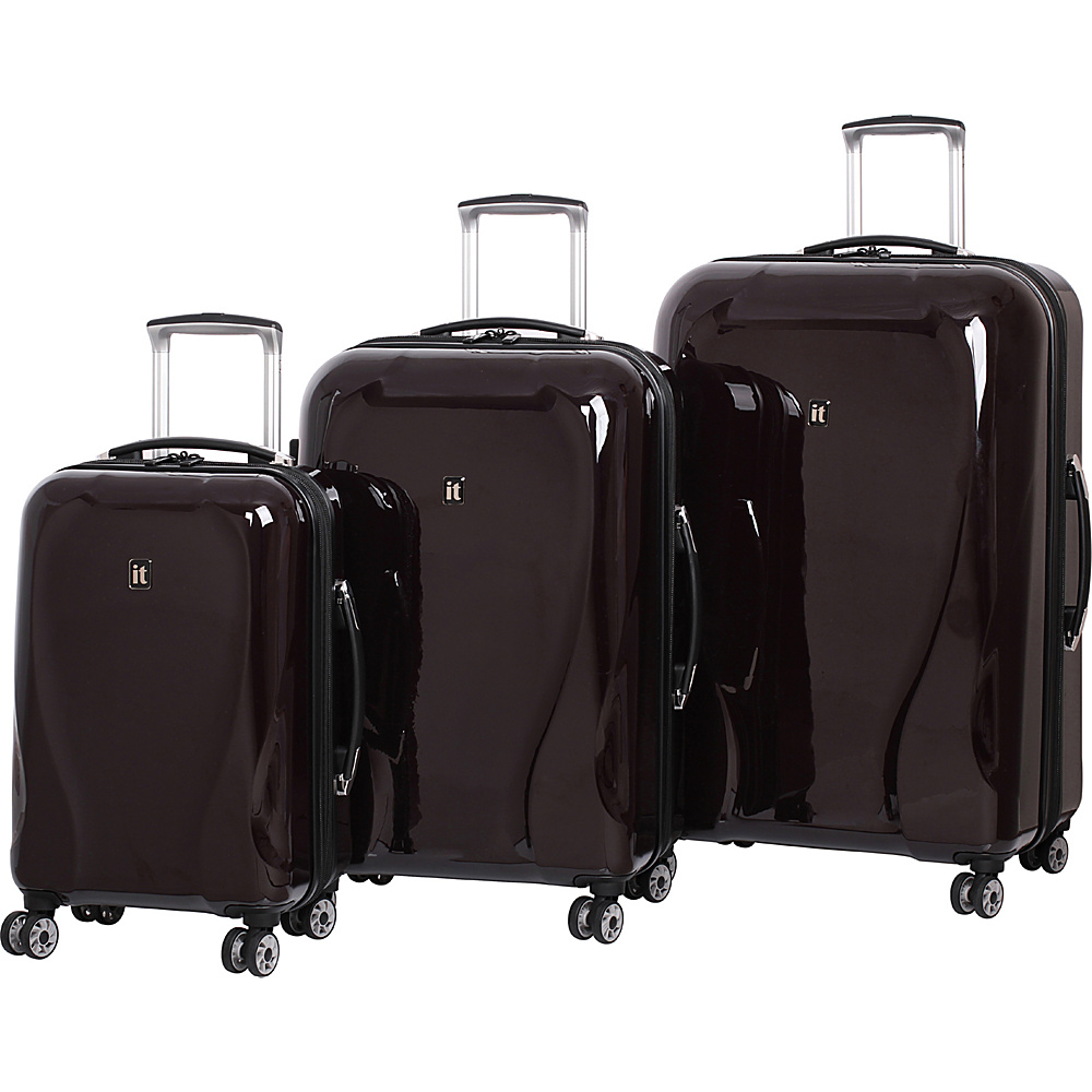it luggage Corona Hardside 8 Wheel 3 Piece Set Coffee it luggage Luggage Sets