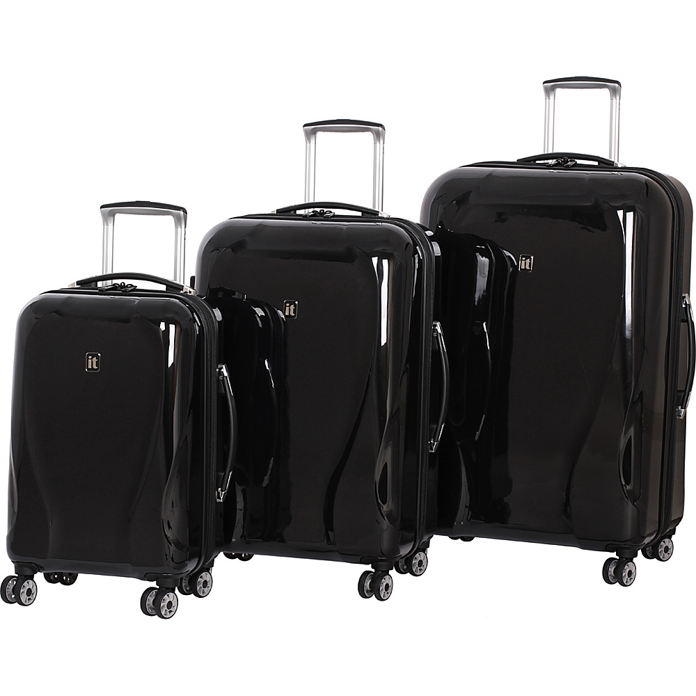 it luggage Corona Hardside 8 Wheel 3 Piece Set Midnight Black it luggage Luggage Sets