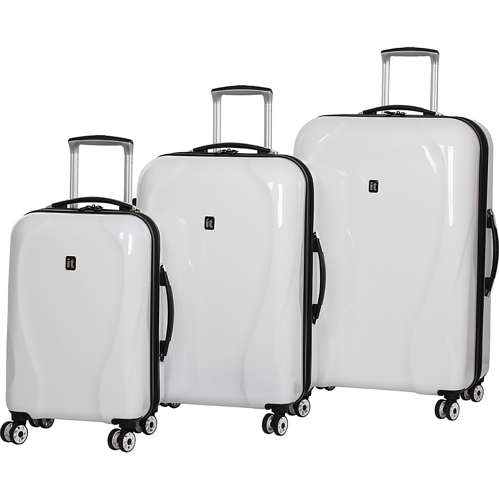 it luggage Corona Hardside 8 Wheel 3 Piece Set Ice White it luggage Luggage Sets