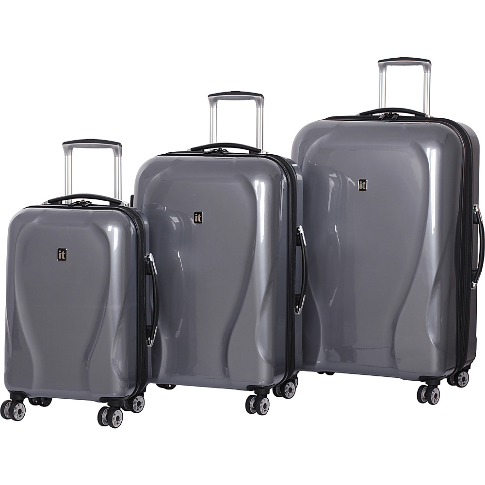 it luggage Corona Hardside 8 Wheel 3 Piece Set Slate Grey it luggage Luggage Sets