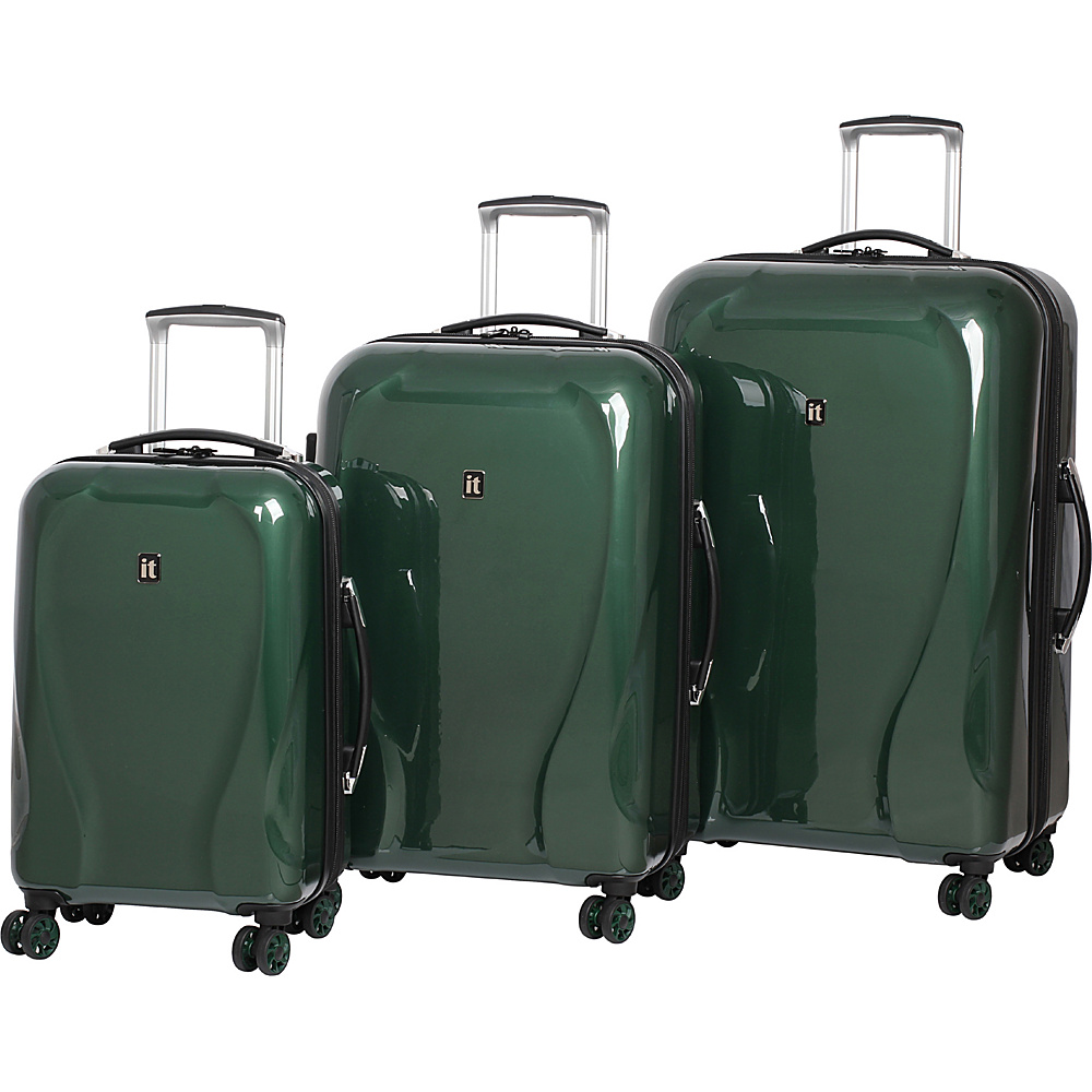 it luggage Corona Hardside 8 Wheel 3 Piece Set Emerald it luggage Luggage Sets