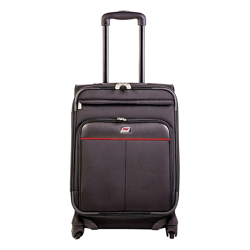 Andare Milan 24 8 Wheel Spinner Upright Black Andare Softside Checked