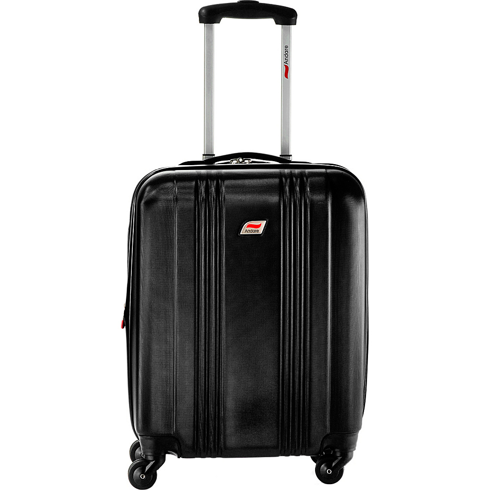 Andare Monte Carlo 20 8 Wheel Spinner Upright Black Andare Hardside Carry On