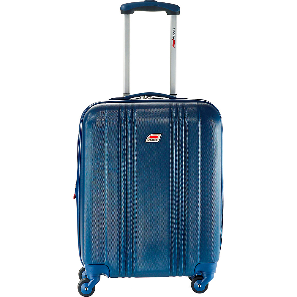 Andare Monte Carlo 20 8 Wheel Spinner Upright Denim Andare Hardside Carry On
