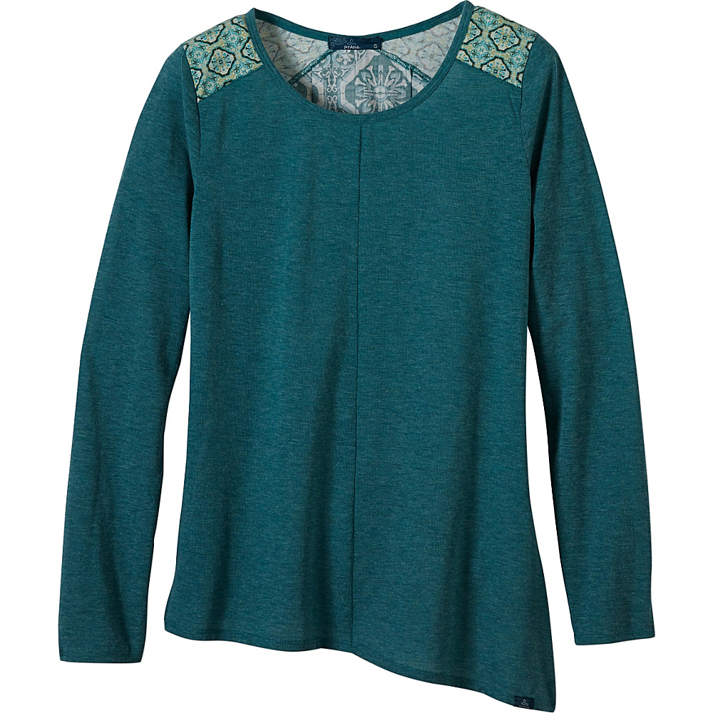 PrAna Jivani Top M - Harbor Blue - PrAna Womens Apparel - Apparel & Footwear, Women's Apparel