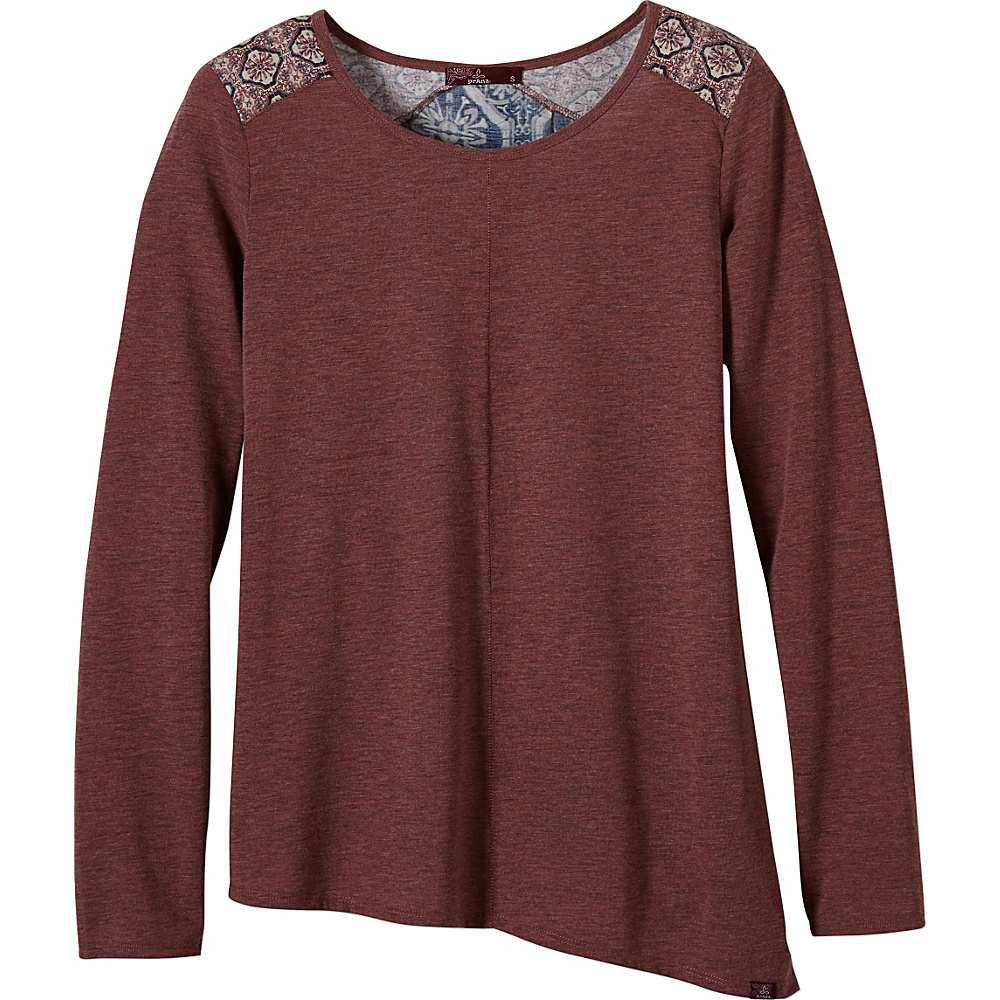 PrAna Jivani Top L - Deep Marsala - PrAna Womens Apparel - Apparel & Footwear, Women's Apparel