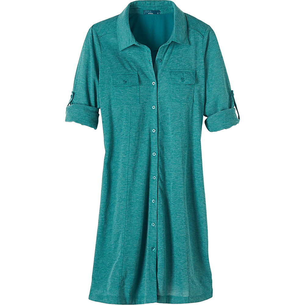 PrAna Besha Dress L - Harbor Blue - PrAna Womens Apparel - Apparel & Footwear, Women's Apparel