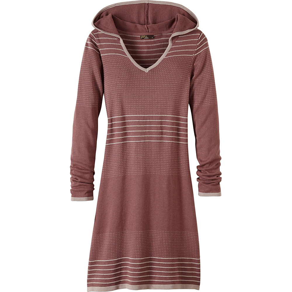 PrAna Mariette Dress L - Deep Marsala - PrAna Womens Apparel - Apparel & Footwear, Women's Apparel