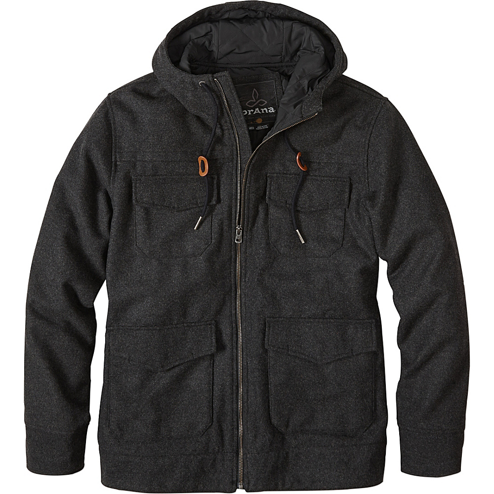 PrAna Field Jacket L - Black Heather - PrAna Mens Apparel - Apparel & Footwear, Men's Apparel