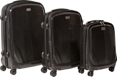 CASED Luggage One Hard Case Luggage 3-Piece Set Black - CASED Luggage Luggage Sets